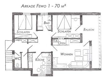 Grundriss Wohnung Arkade 1